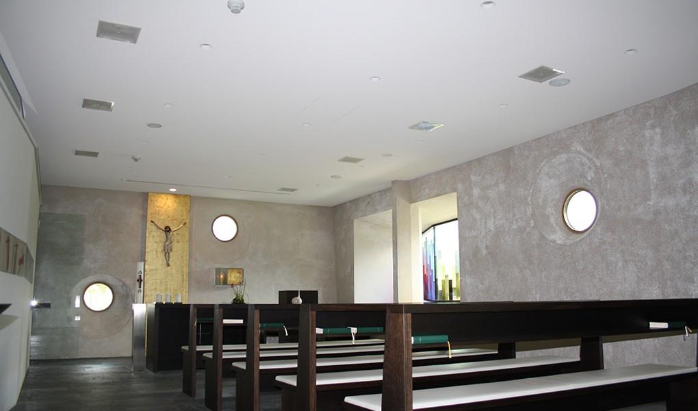 Innenausbau in der Kapelle