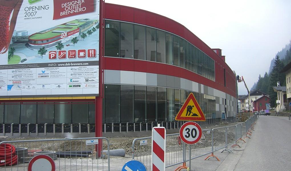 Die Baustelle des DOB Designer Outlet Brennero – Südtirol