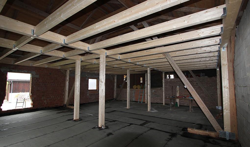 Der Stadel vor den Innenausbau-Arbeiten